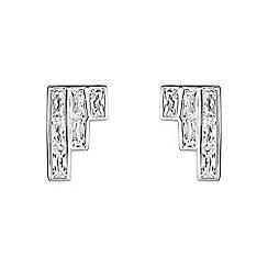 Buckley London - Silver adelphi staggared earrings