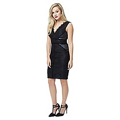 Jane Norman - Black Lace Velevet Trim Dress
