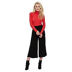 Jane Norman - Black back side button culottes