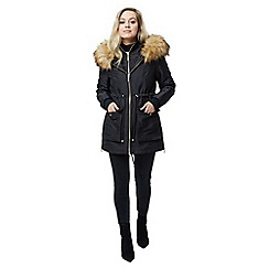 Jane Norman - Black black parka coat