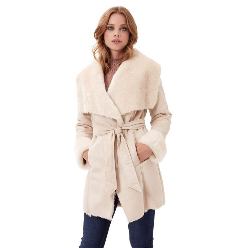 Jane Norman Natural Luxe Shearling Coat, Womens, Size: 16