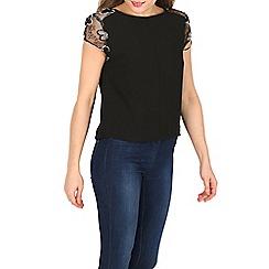 Cutie - Black lace sleeve top