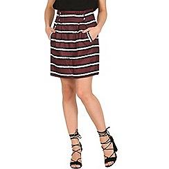 Cutie - Dark red stripe print skirt