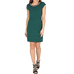Cutie - Green embroidered neck dress