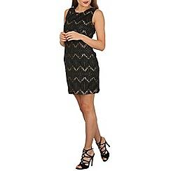 Mela - Black lace pulse dress