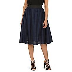 Tenki - Blue Pleated Midi Skirt