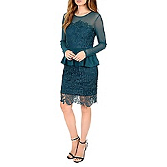 Alice & You - Aqua lace overlayer peplum dress