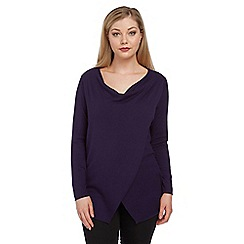 Roman Originals - Purple wrap detail jumper