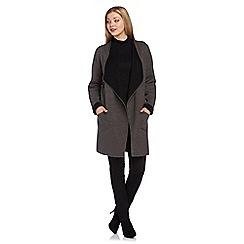 Roman Originals - Dark grey contrast coatigan