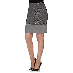 Roman Originals - Black contrast hem skirt