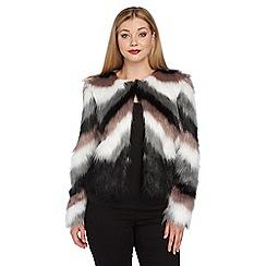 Roman Originals - Multicoloured faux fur coat