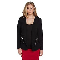 Roman Originals - Black double zip jacket
