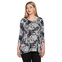 Roman Originals - Grey floral print top