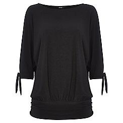 Roman Originals - Black split sleeve top