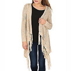 Stella Morgan - Beige long sleeve knitted cardigan