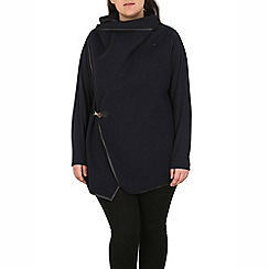 Samya - Navy oversized waterfall drape cardigan