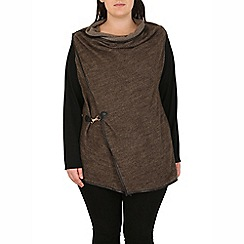Samya - Brown asymmetric fit cardigan