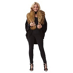Jane Norman - Black faux fur collar cardigan