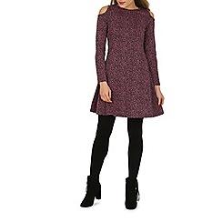 Indulgence - Pink cold shoulder dress