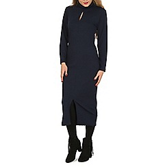 Indulgence - Navy high neck maxi dress