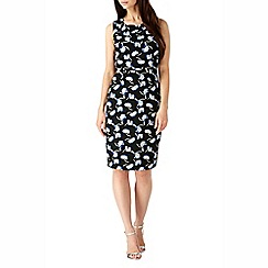 Sugarhill Boutique - Black khloe floral 2-in-1 pencil dress