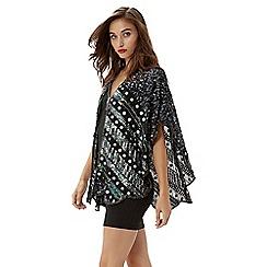 Jane Norman - Silver embellished shawl