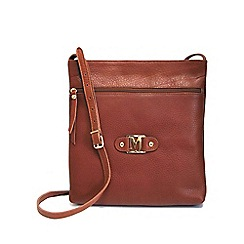Marta Jonsson - Tan cross body bag with zipper
