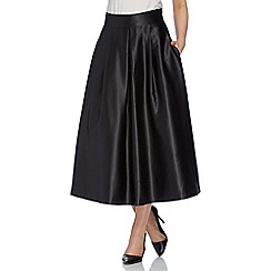Roman Originals - Black full satin skirt