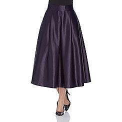 Roman Originals - Purple full satin skirt