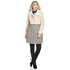 Roman Originals - Grey colour block coat