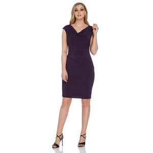 Roman Originals Purple Cowl Neck Jersey Dress