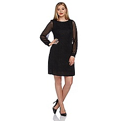 Roman Originals - Black embellished shift dress
