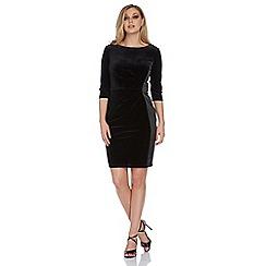 Roman Originals - Black satin and velvet dress