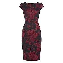 Roman Originals - Red jacquard rose dress