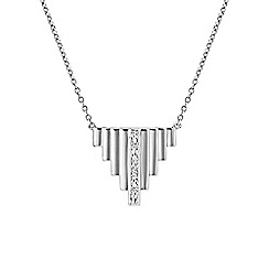Buckley London - Silver adelphi staggered pendant
