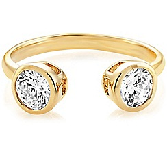 Buckley London - Gold central brilliant open ring