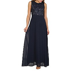 Izabel London - Navy embellished maxi dress