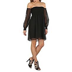 Blue Vanilla - Black bardot chiffon dress