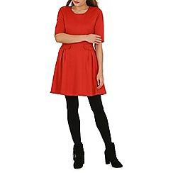Izabel London - Orange pocket detail skater dress