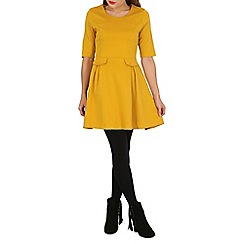 Izabel London - Mustard pocket detail skater dress