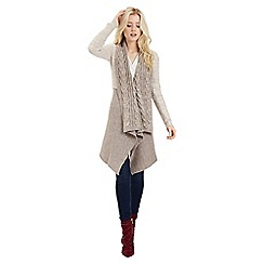 Jane Norman - Beige tie-front waterfall cardigan