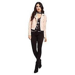 Jane Norman - Pink polyurathane bomber jacket