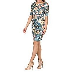 Jolie Moi - Green lace bonded shift dress