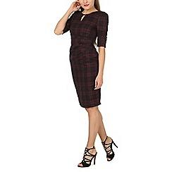 Jolie Moi - Black checked woven shift dress