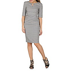 Jolie Moi - Grey checked woven shift dress