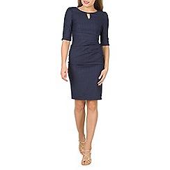 Jolie Moi - Navy striped shift dress