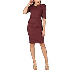 Jolie Moi - Maroon striped shift dress