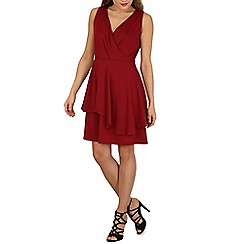 Solo - Wine penny wrapover dress