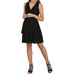 Solo - Black penny wrapover dress