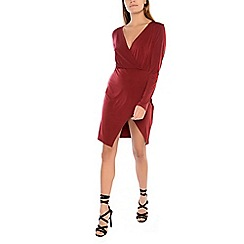 Alice & You - Plum wrap front dress